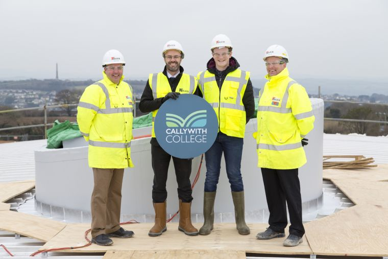Read Callywith College celebrates Topping-Out milestone